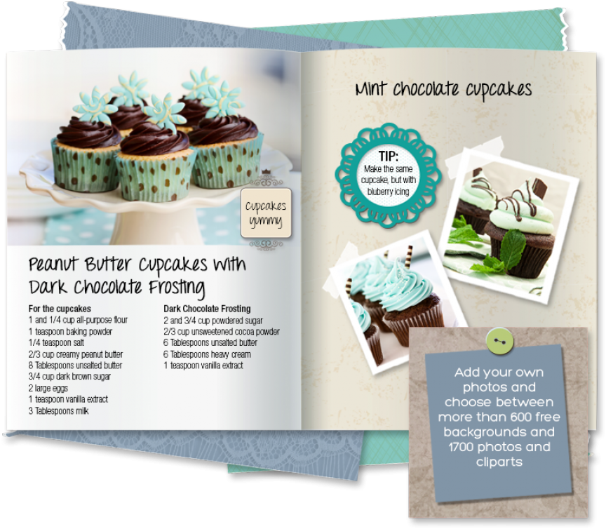 Create your own or. Cookbook clipart recipe book