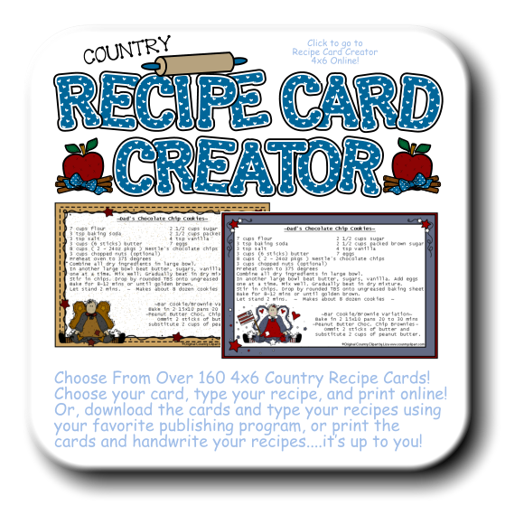 Cookbook clipart recipe word. Online printable cards acur