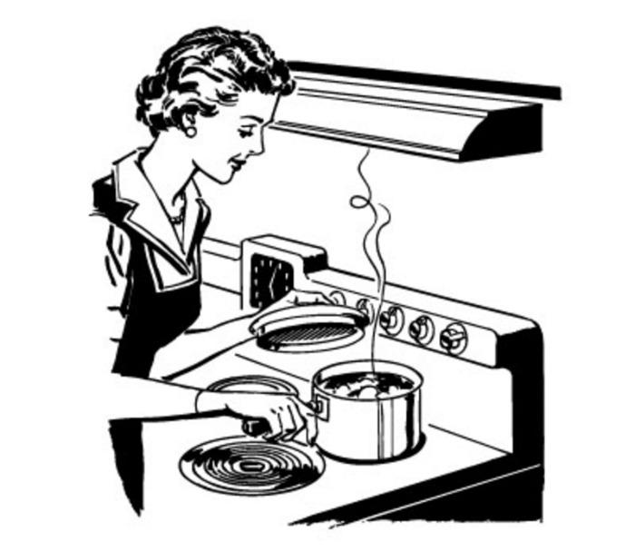Cookbook clipart retro. Free vintage clip art