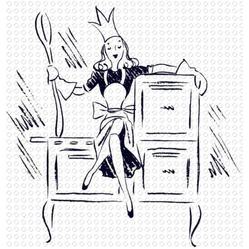 Mother queen of the. Cookbook clipart retro