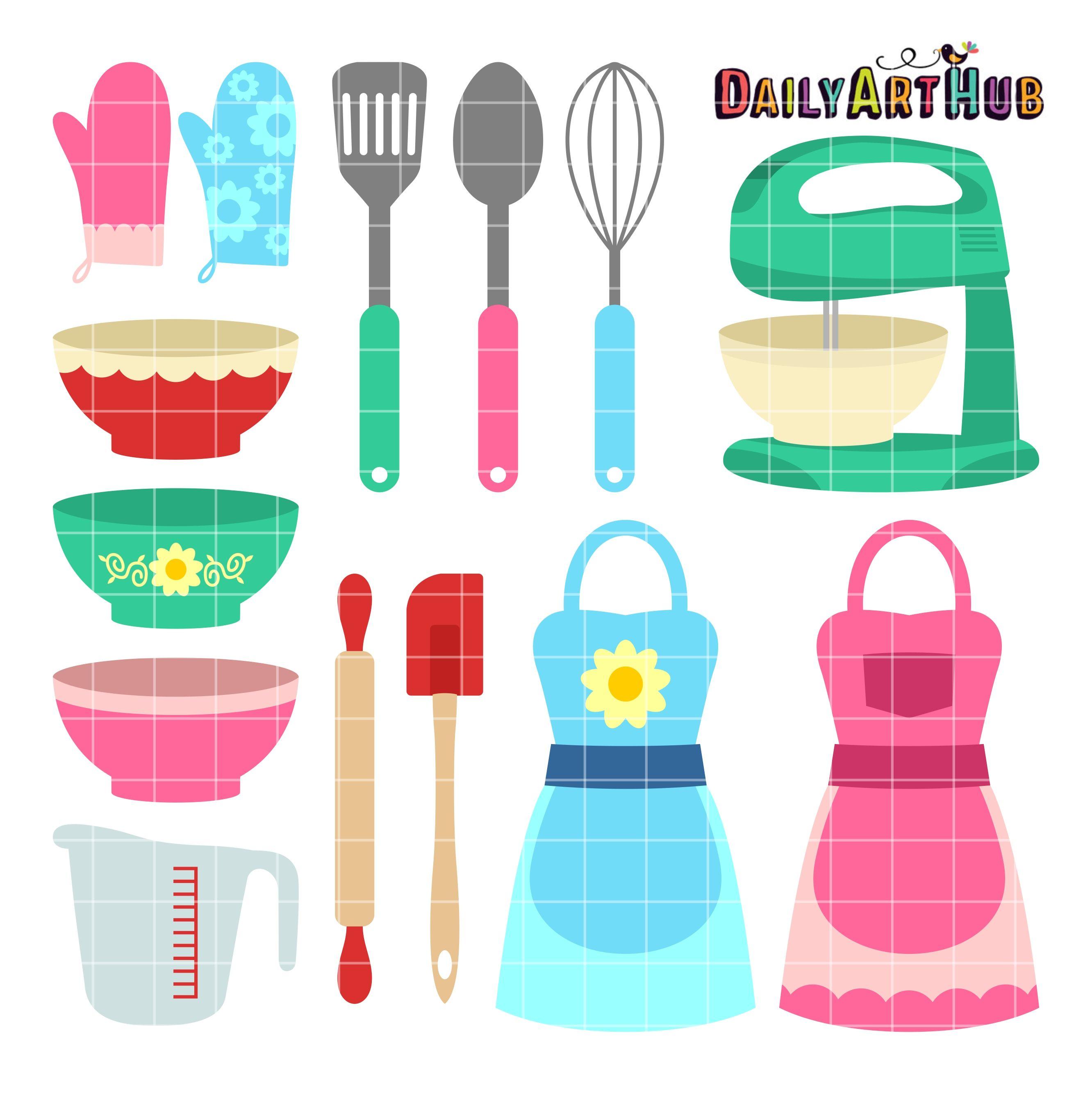 Cookbook clipart toy kitchen. Cute wares clip art
