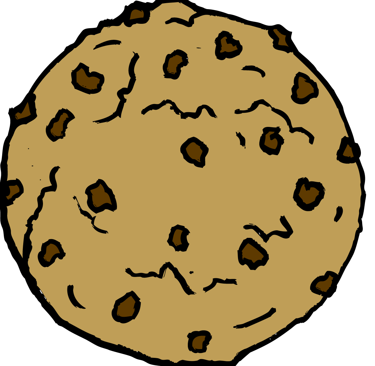 Chocolate chip cookies drawing. Cookie clipart