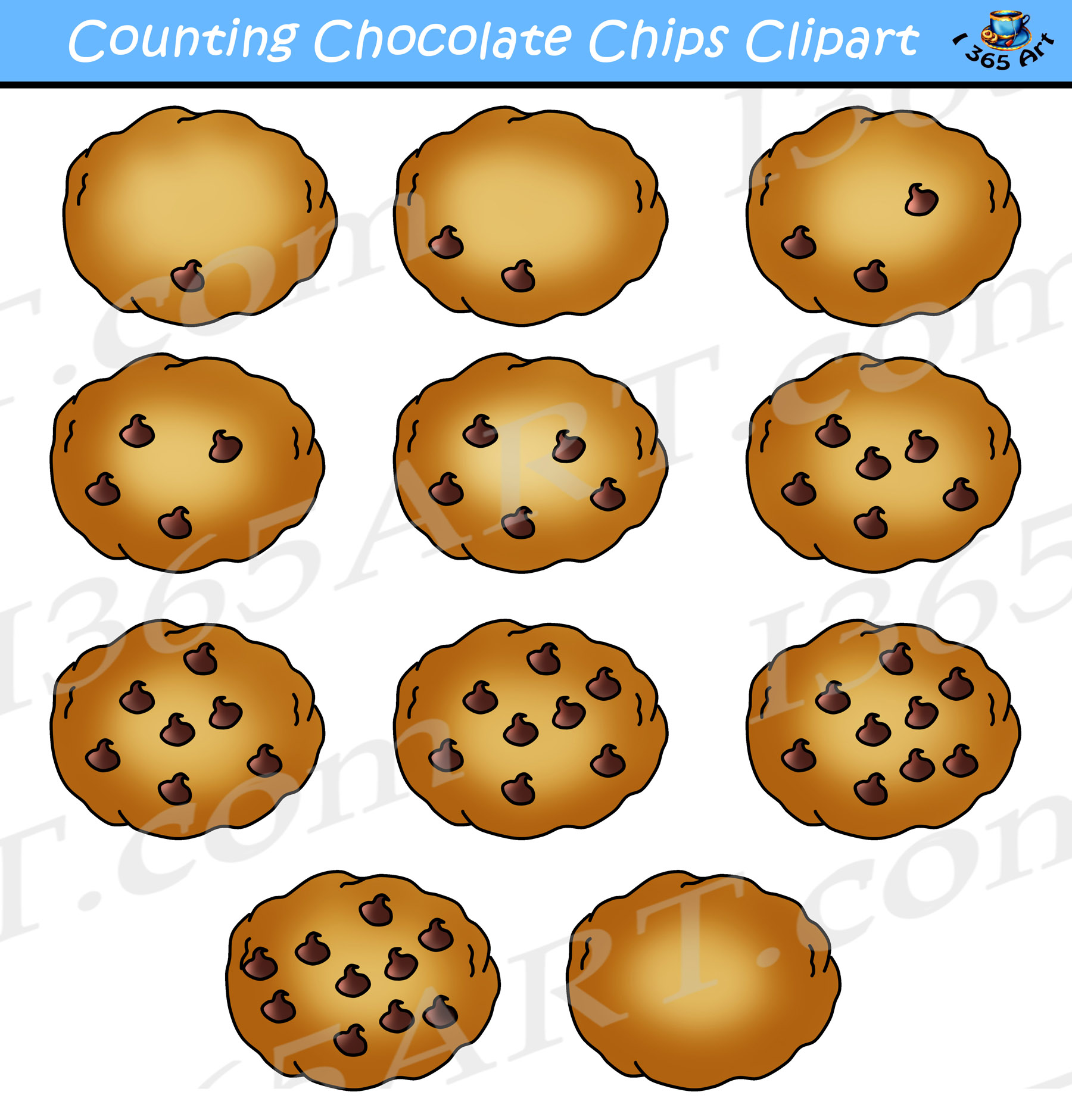 Cookie clipart chocolate chip cookie. Counting cookies commercial use