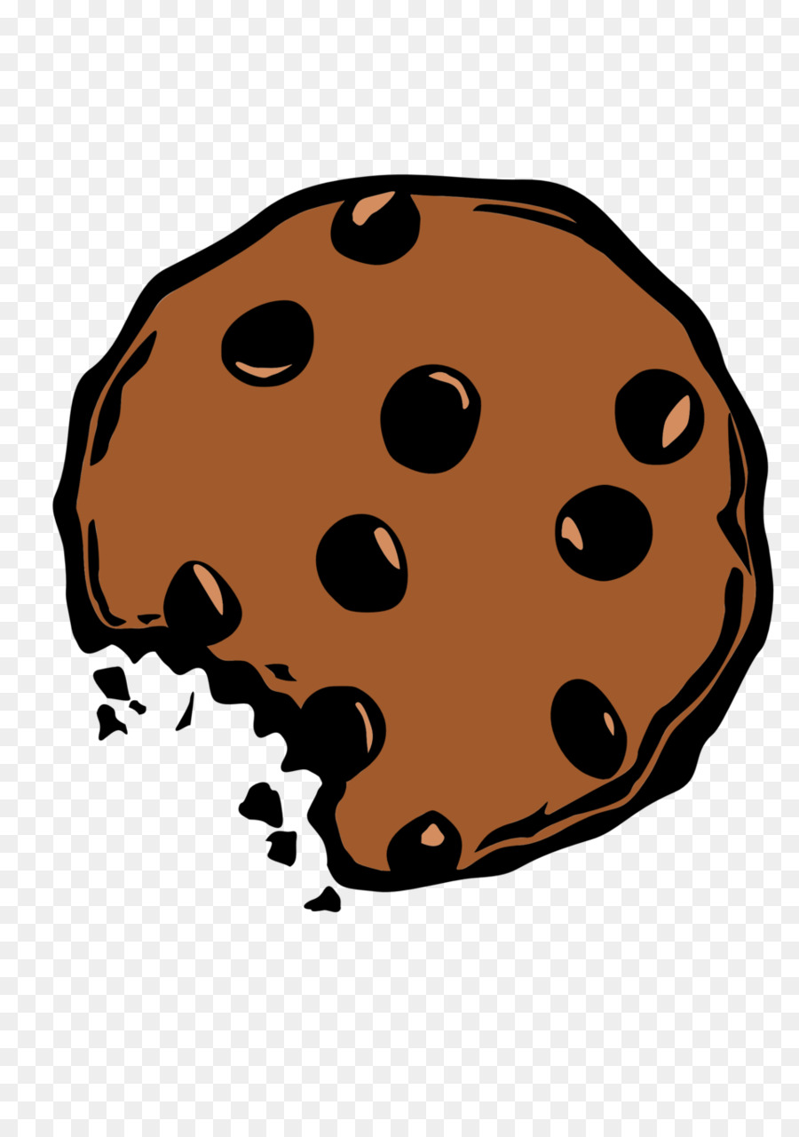 Ladybird dessert nose . Cookie clipart chocolate chip cookie