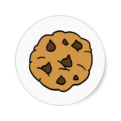 Cartoon huge chocolate chip. Cookies clipart round cookie