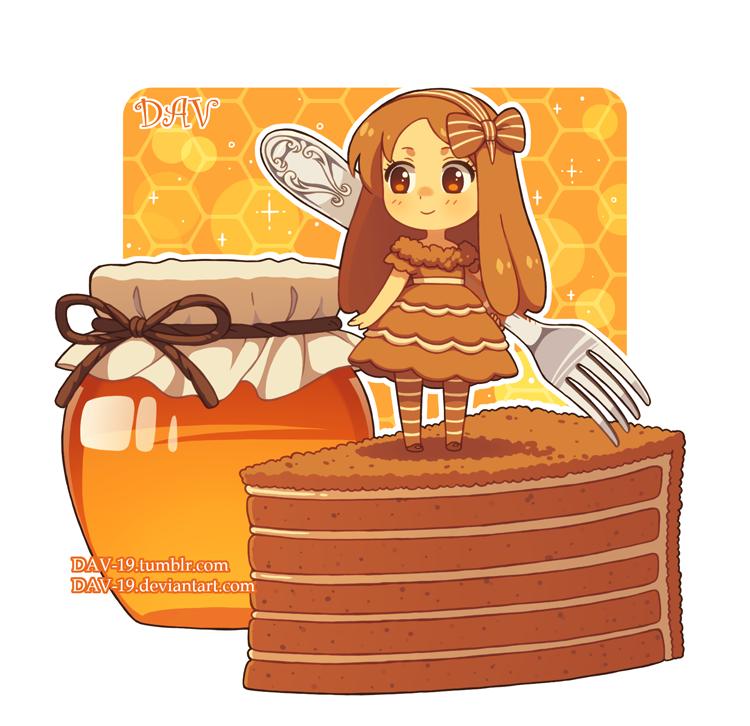 Honey cake by dav. Cookie clipart kawaii