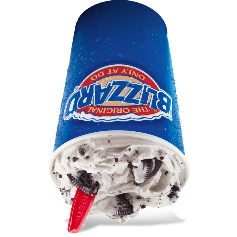 Cookie blizzard treat . Oreo clipart logo