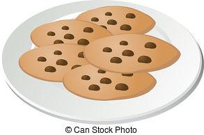 Cookie clipart plate cookie.  of cookies clipartlook