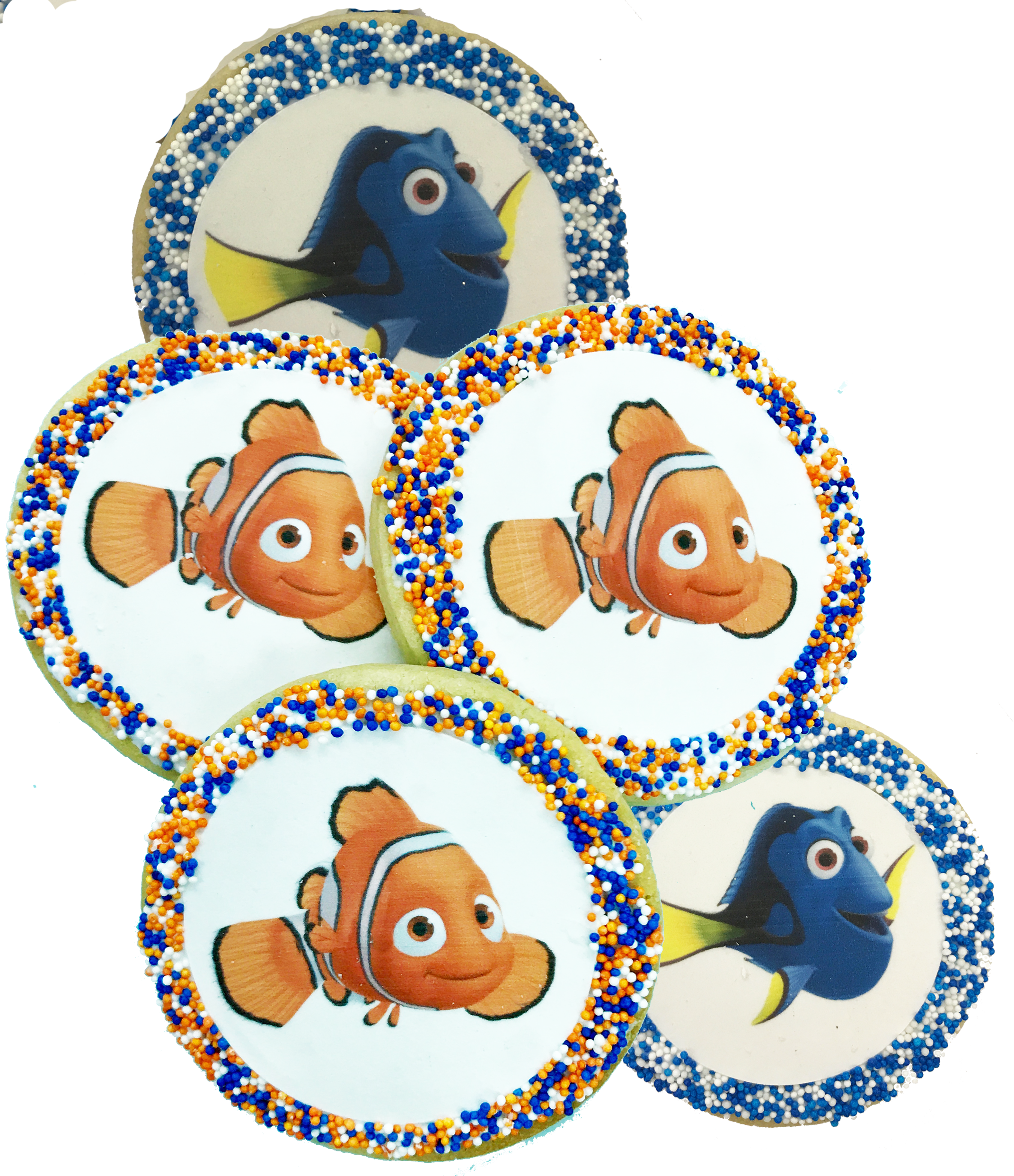 Nemo and sugar cookies. Dory clipart nimo