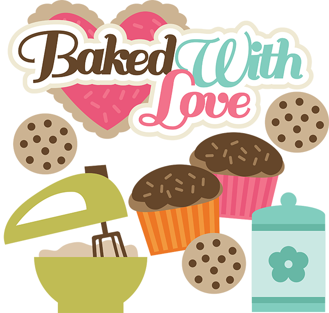 Make clipart baking. Baked with love svg