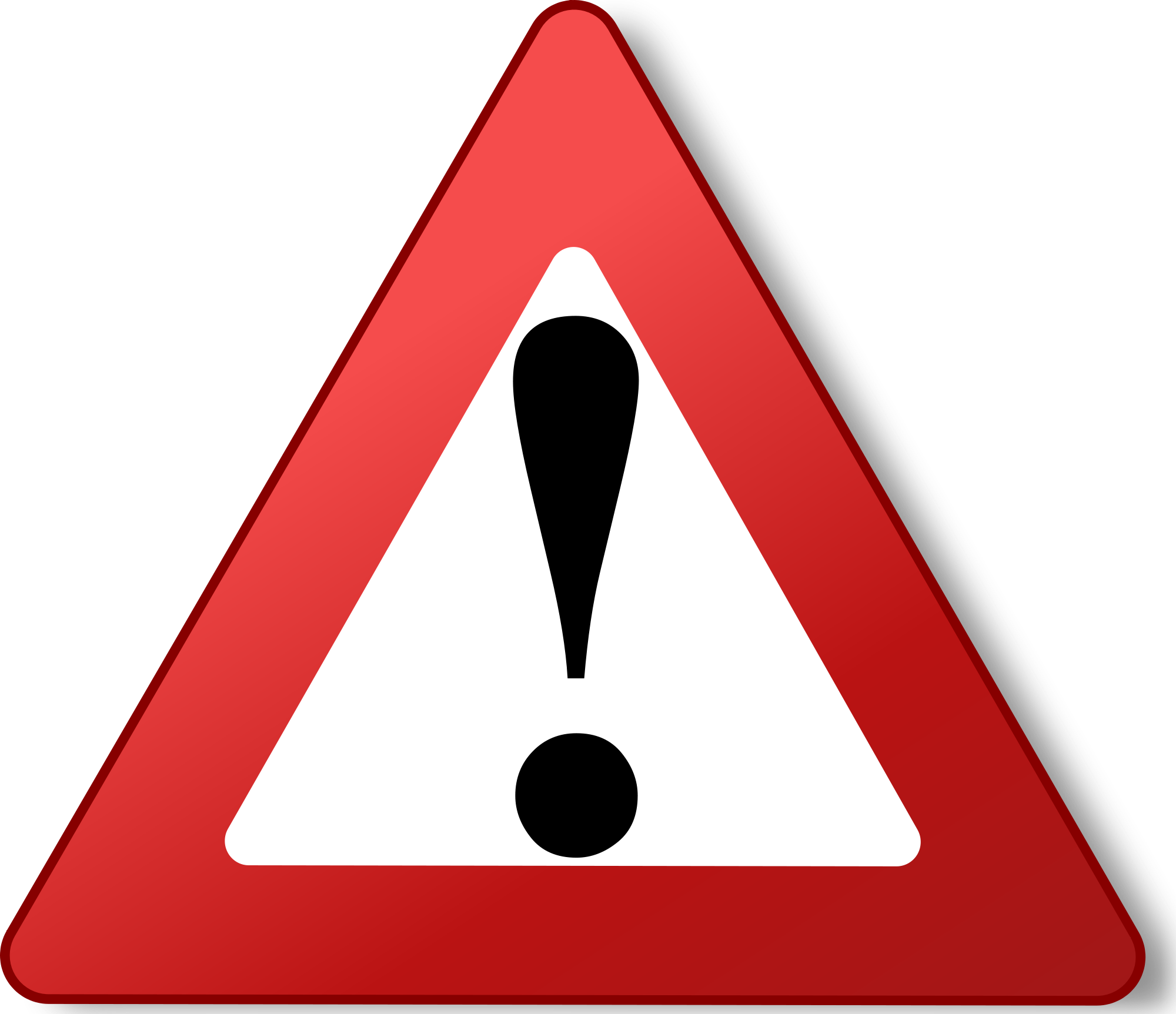 Triangular clipart teaching. Warning triangle red reflections