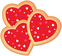 Valentine clipart cookie. Valentines day heart cookies