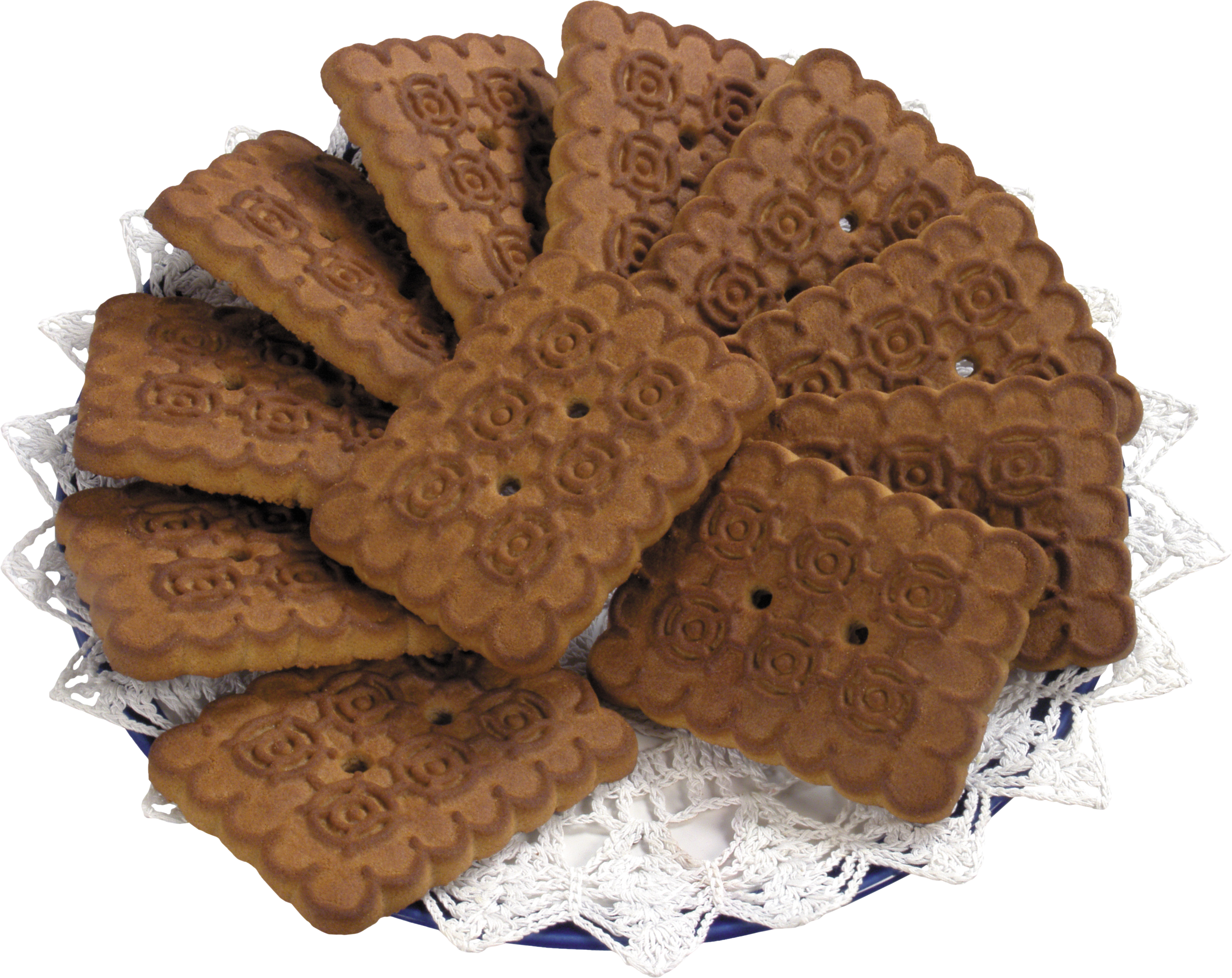Plate of png image. Cookies clipart baked goods