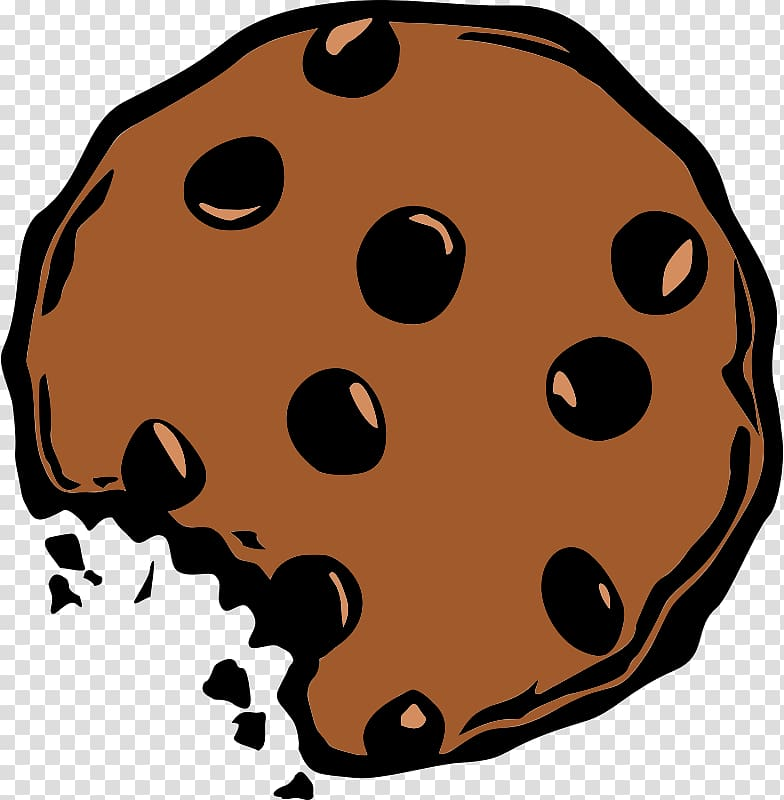 Brown cookie with bite. Oreo clipart artwork