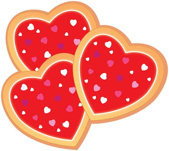 Search results for cookies. Hearts clipart cookie