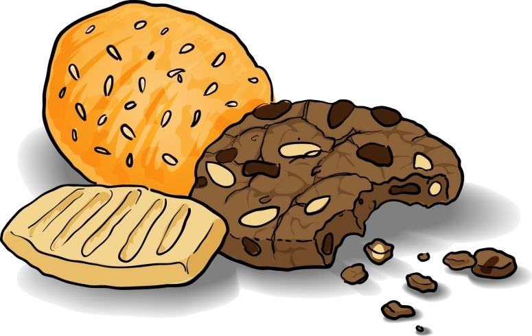 Biscuit clip art library. Cookies clipart plain cookie