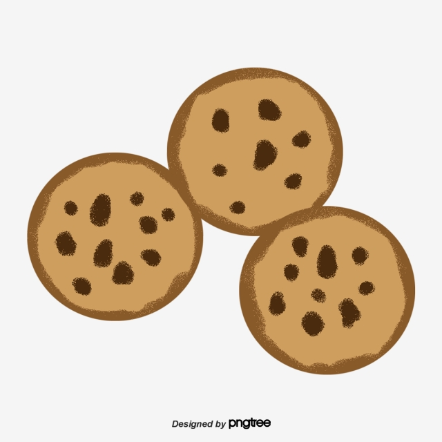 Chocolate chip png vector. Cookies clipart round cookie