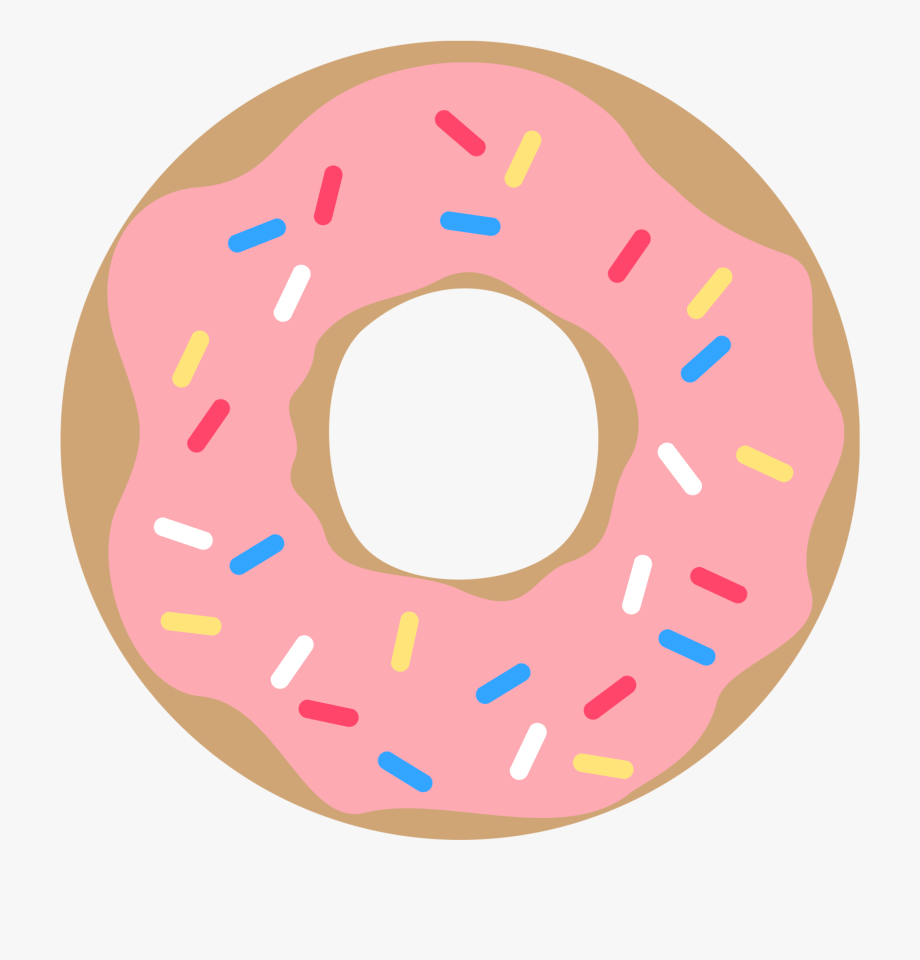 Donut clipart printable. Pink with sprinkles free