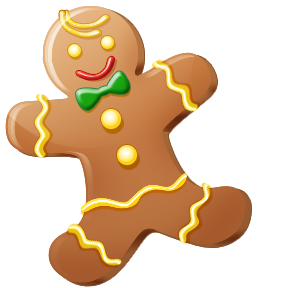 Free winter desert cliparts. Gingerbread clipart christmas biscuit