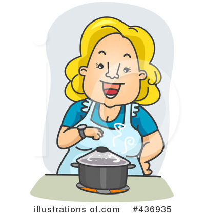 Cooking clipart. Illustration by bnp design