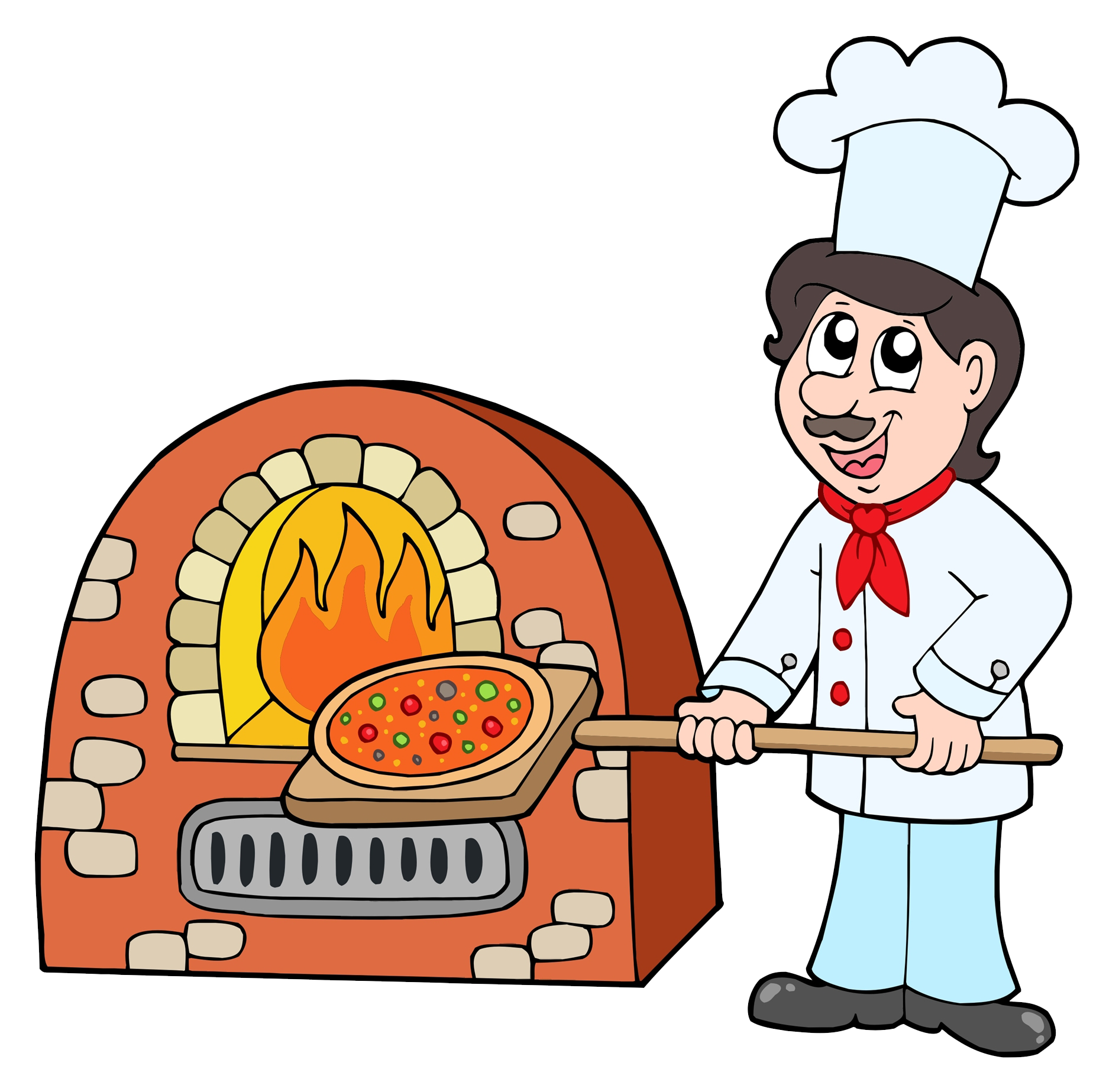 Gas clipart oven fire. Pizza baking chef transprent