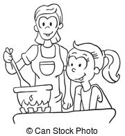 Station . Cooking clipart black and white