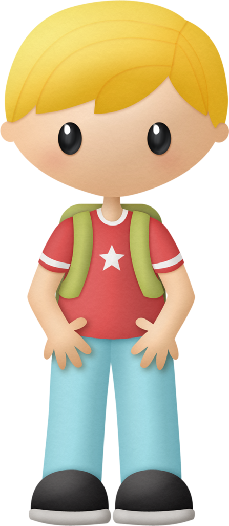 Waves clipart kid. Blond boy with backpack