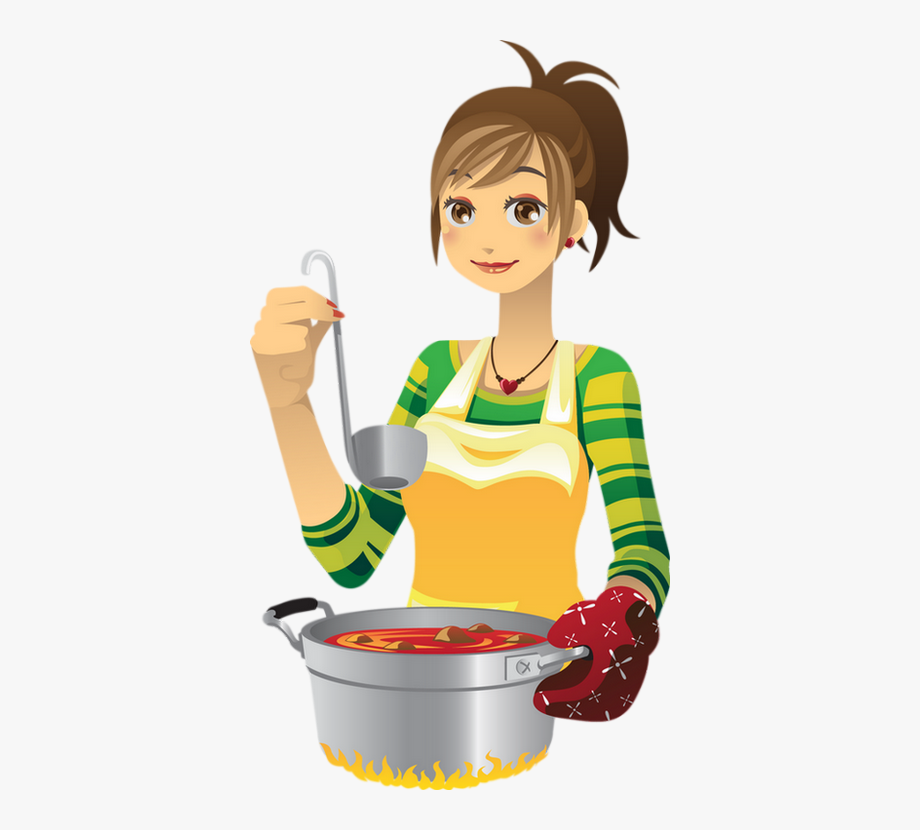 Animated person food cliparts. Cooking clipart cartoon