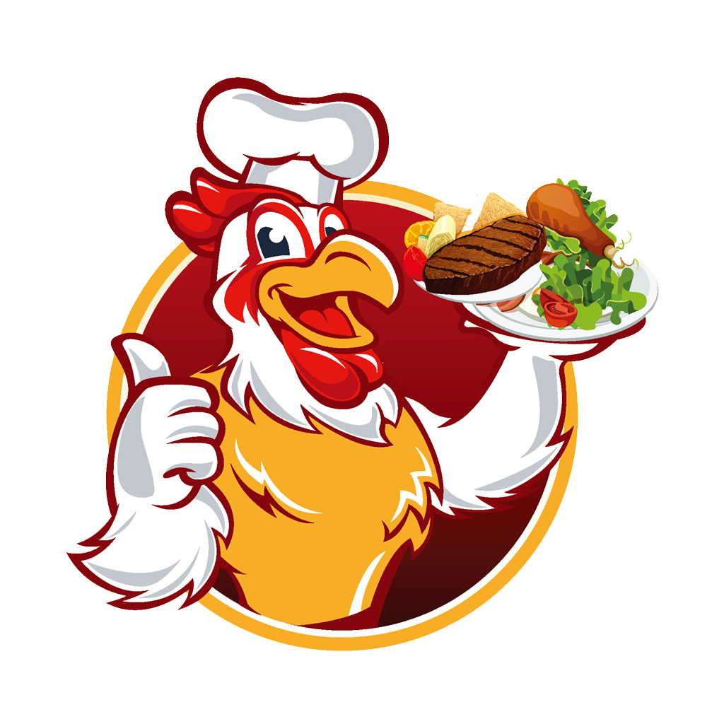 Chicken meat chef cartoon. Cooking clipart cook chinese