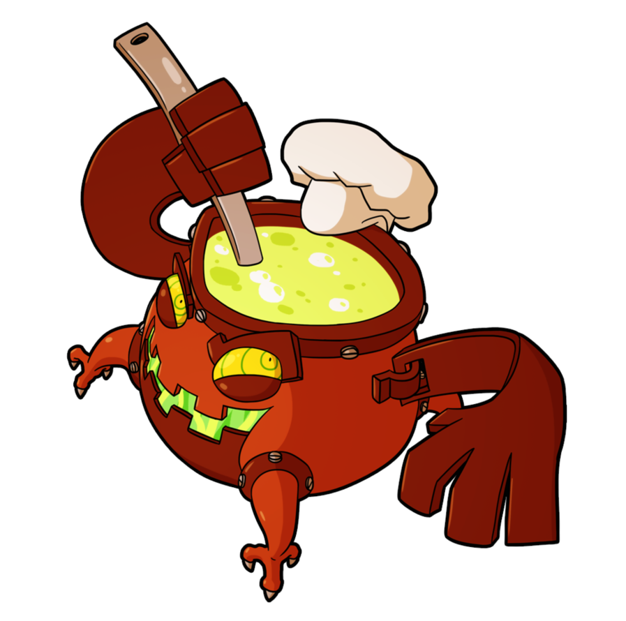 Fiona frightening commission cooking. Soup clipart concoction