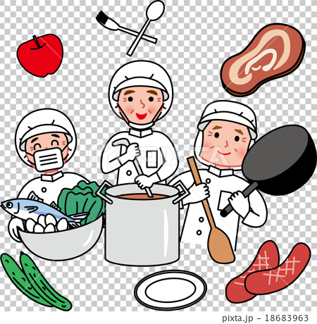 Cooking clipart kitchen staff. Senior assistant feeding stock