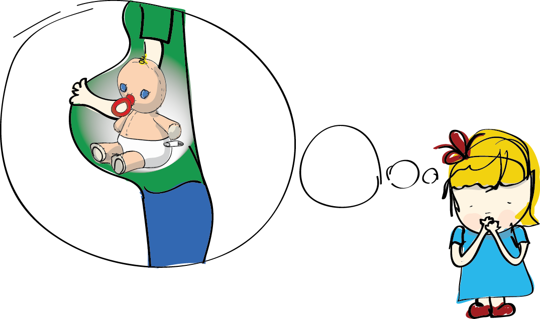 Has a baby in. Cooking clipart mummy