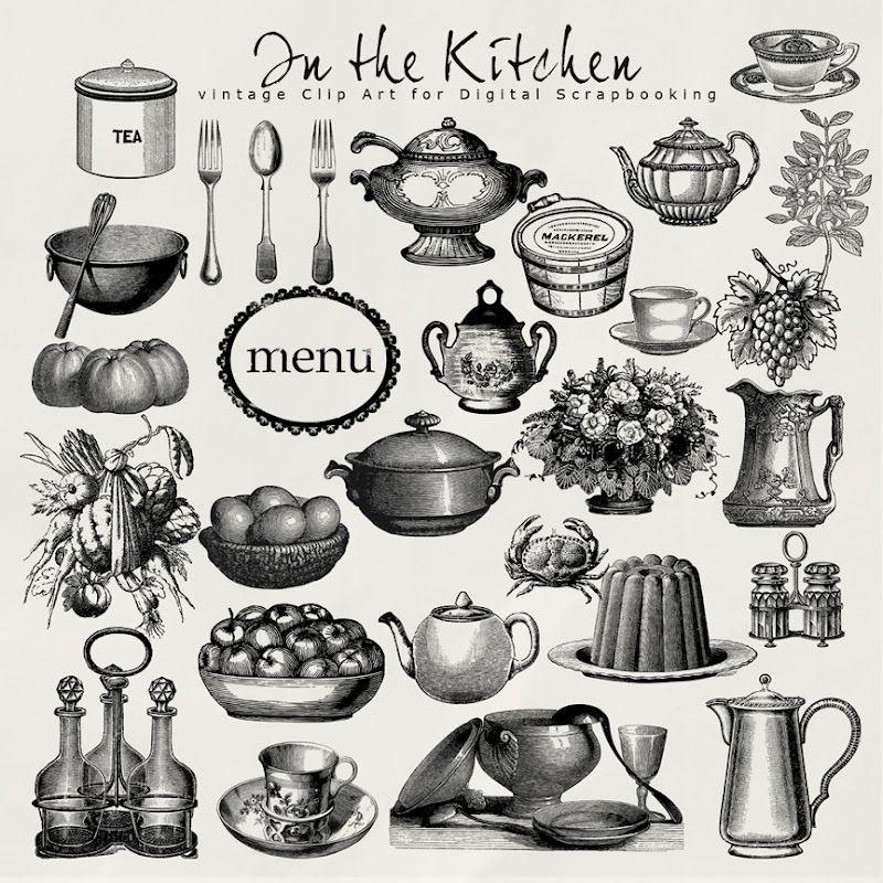 Kitchen clipart vintage. Cooking clip art free