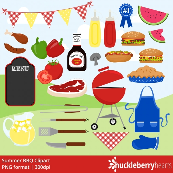 Cookout clipart. Bbq grill hamburgers summer