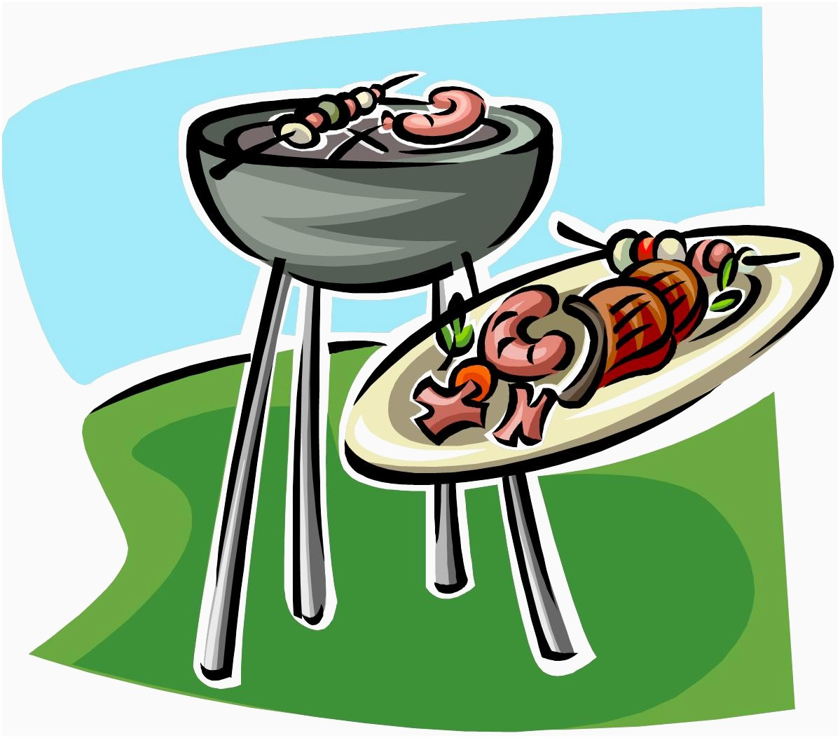 Cookout clip art images. Grilling clipart family first