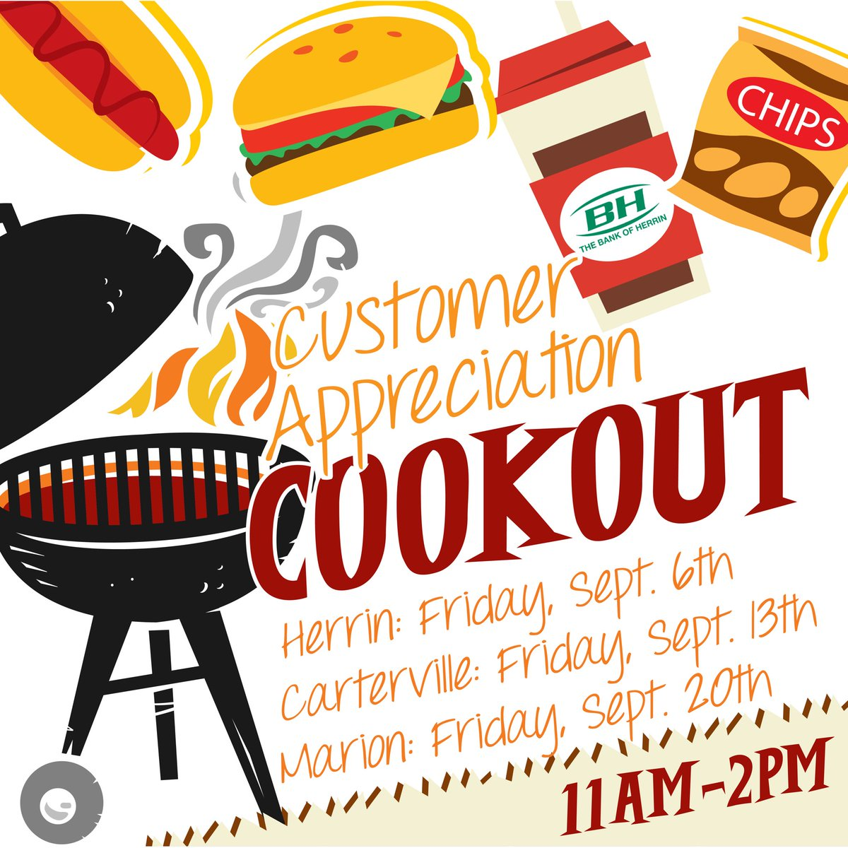 Cookout clipart appreciation. Bank of herrin on