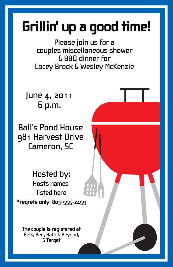 Invitation party engagement getting. Cookout clipart appreciation