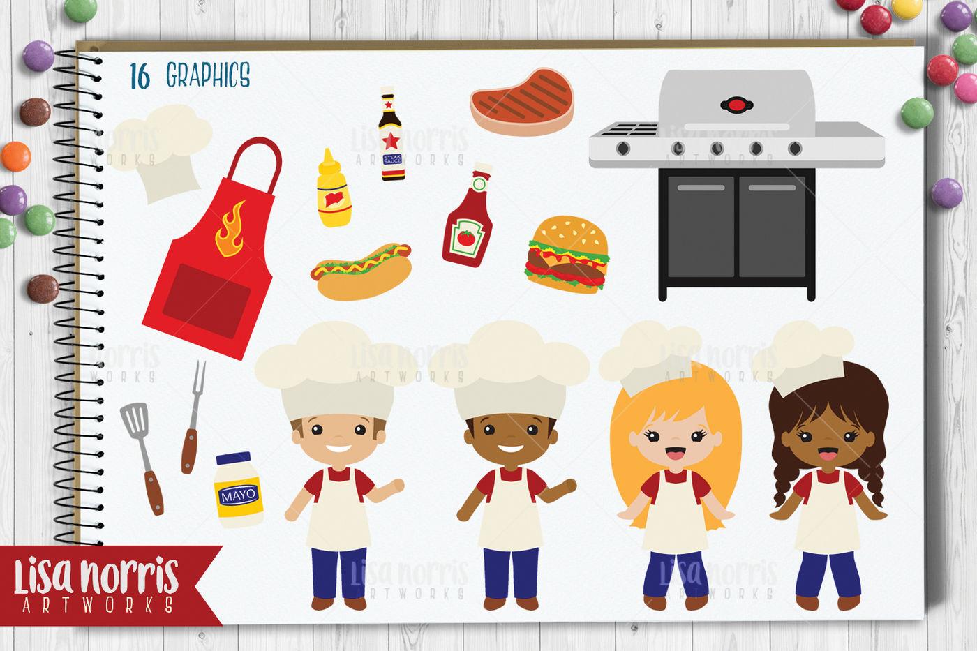 Cookout clipart artwork. Clip art graphics by