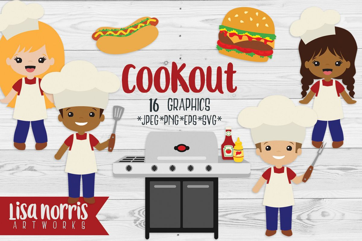 Cookout clipart artwork. Clip art graphics svg
