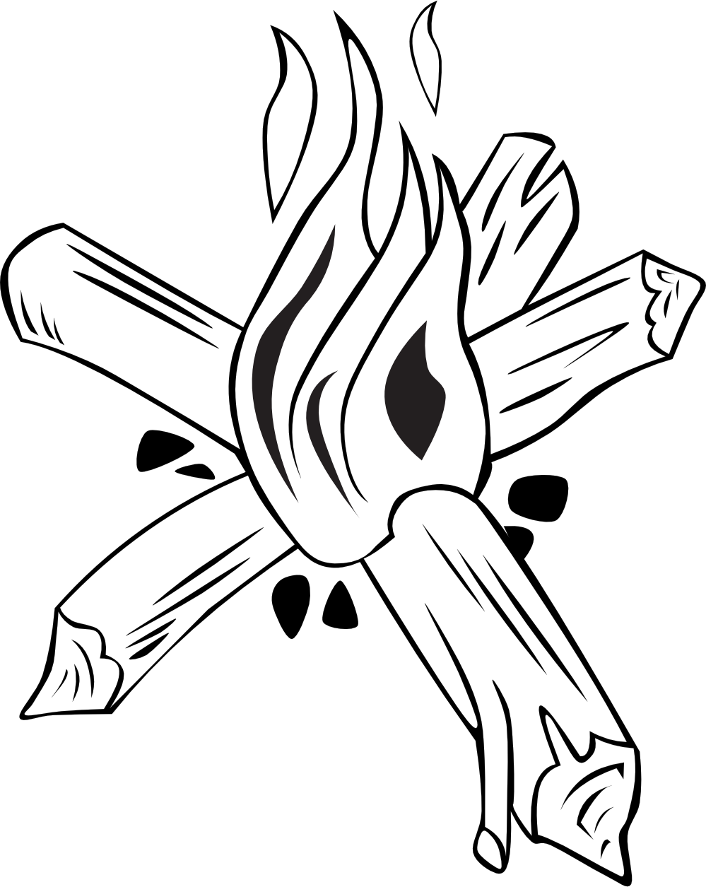 Winter clipart bonfire. Campfire cooking panda free
