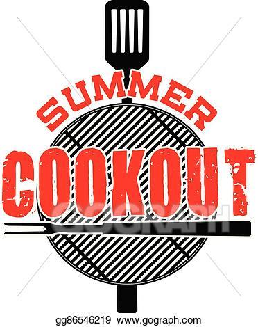 Cookout clipart flyer. Clip art vector summer