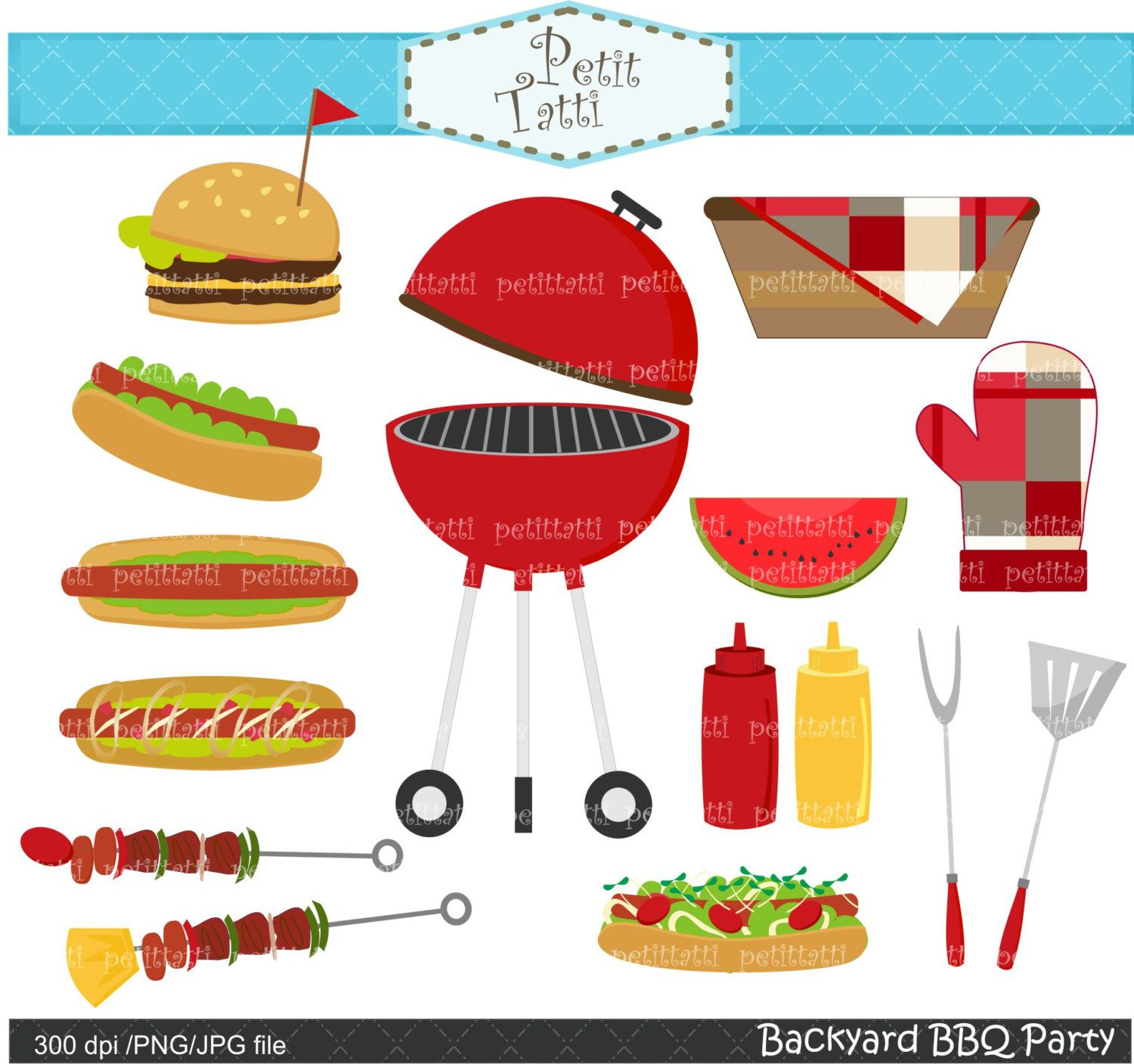 Grilling clipart patio party. Bbq clip art summer