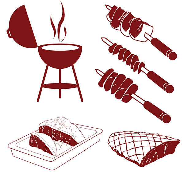 Grilling clipart memorial day. Infographic depicting the various