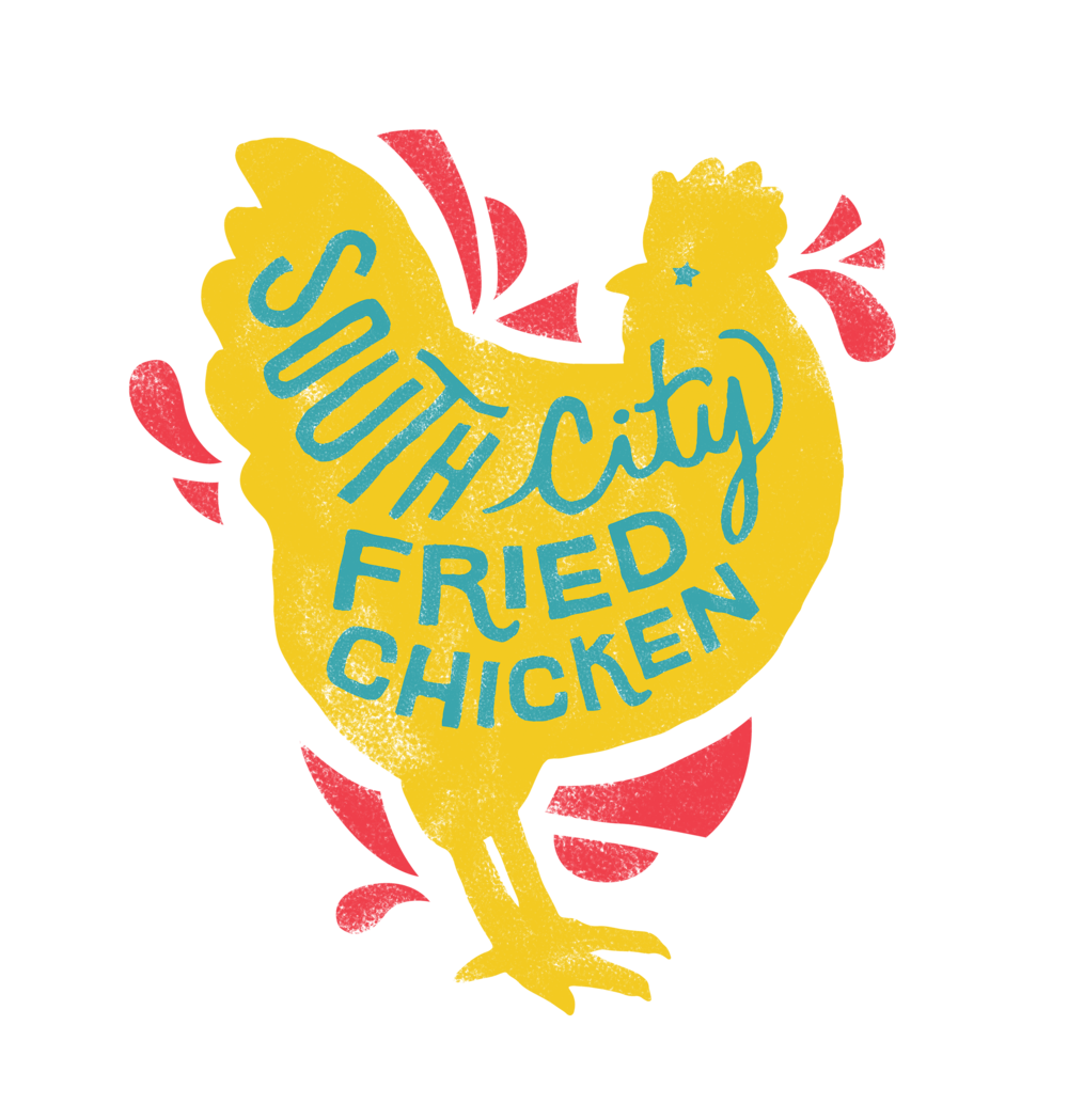 Hen clipart chicken fry. Our menu south city