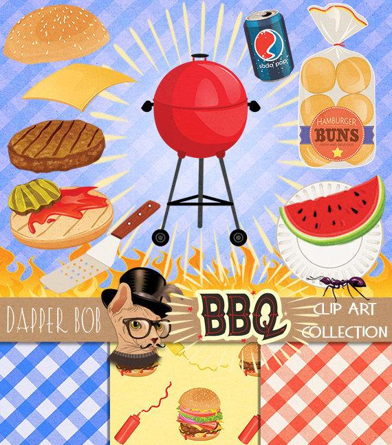 Party clip art collection. Cookout clipart southern bbq