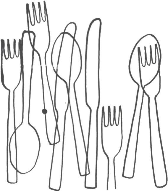 Table manners in twenty. Dishes clipart plate silverware