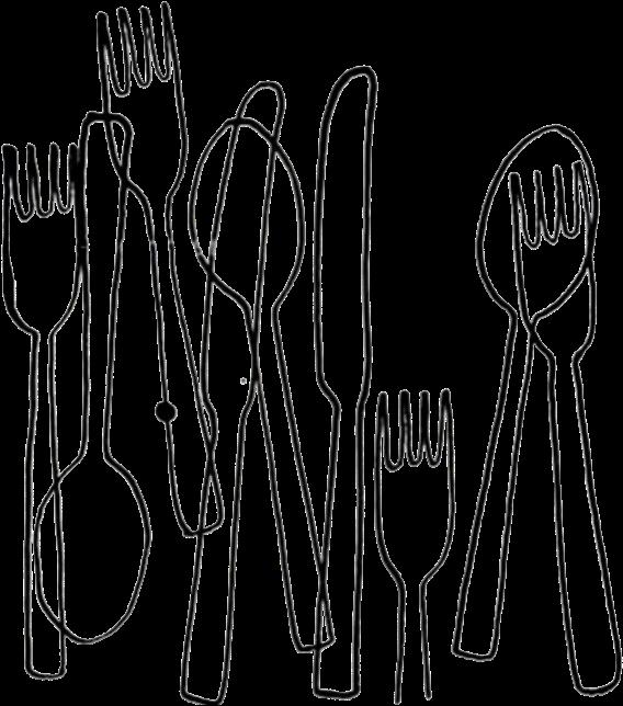 Table manners in twenty. Knife clipart silverware plate