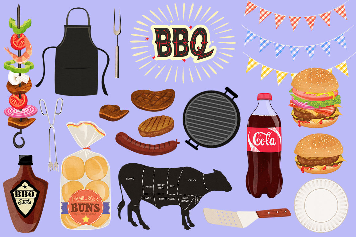 Cookout clipart western bbq. Clip art graphics by