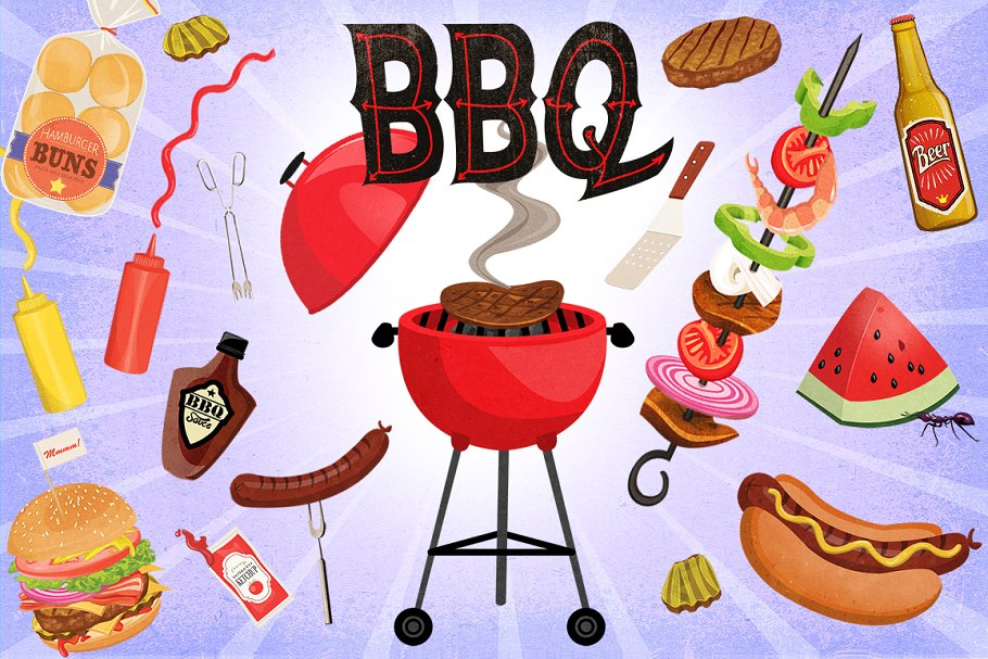 Clip art graphics illustrations. Cookout clipart western bbq