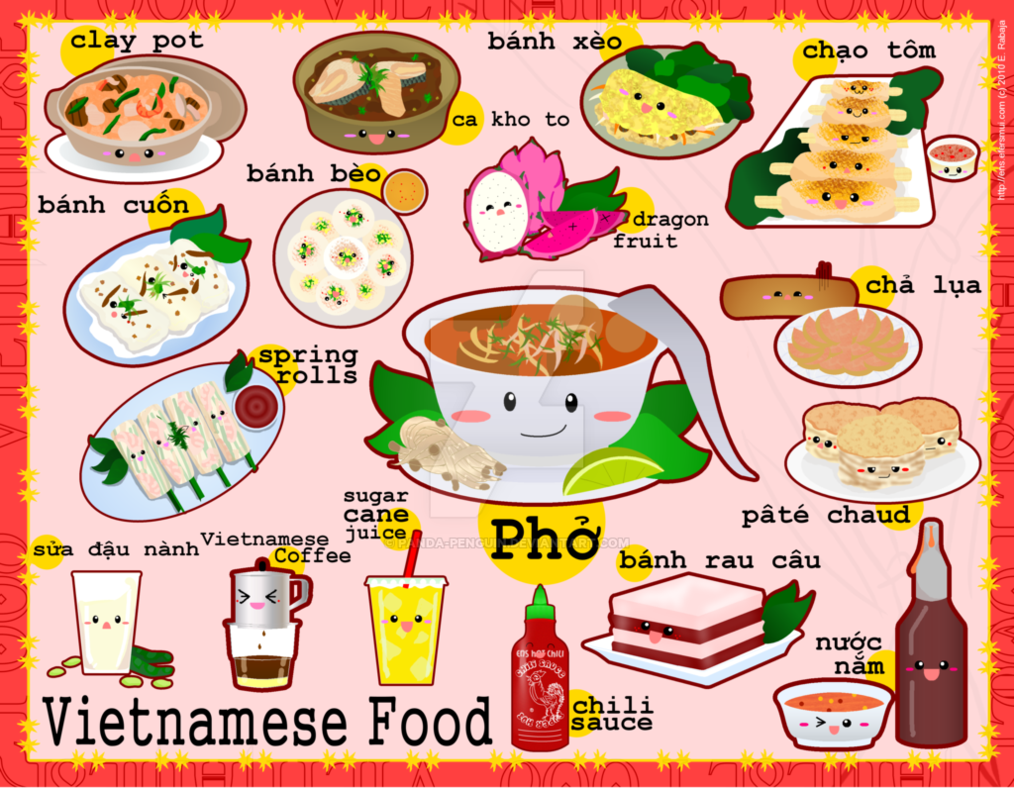 Feast clipart pinoy food. Foodies vietnam by panda